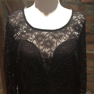 Black dress with peekaboo back